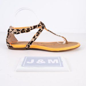 NEW Sperry leopard print / orange sandals 9.5